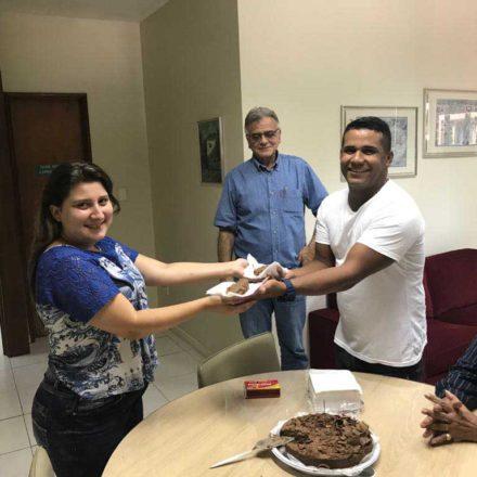 Comemoração dos aniversariantes do mês de fevereiro da equipe de funcionários da SEAERJ