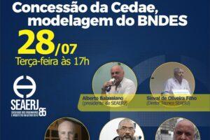 Live Concessão da Cedae, modelagem do BNDES