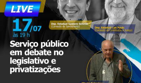 SEAERJ e FOSPERJ promovem live com deputados Luis Paulo e Gustavo Schimit