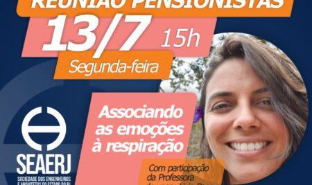 Reunião de pensionistas da SEAERJ terá participação de professora de yoga