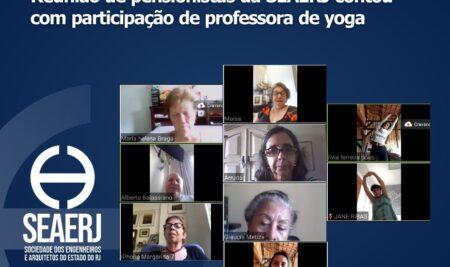 Reunião de pensionistas da SEAERJ contou com participação de professora de yoga