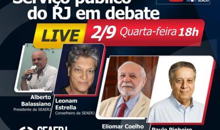Live SEAERJ debate o serviço público no RJ