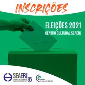 Inscreva-se para as Eleições do Centro Cultural da SEAERJ Biênio 2021-2023