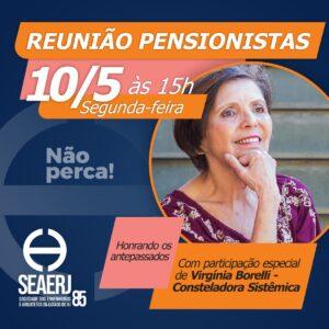 Reunião das Pensionistas no próximo dia 10/05