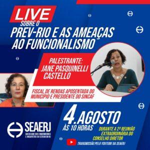 Live sobre o Prev Rio e as ameaças ao Funcionalismo