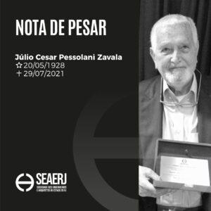 Seaerj comunica o falecimento do arquiteto Julio Cesar Pessolani