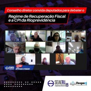 Conselho Diretor convida deputados para debater o Regime de Recuperação fiscal e a CPI do Rioprevidência