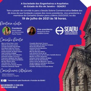 Convite Solenidade de Posse (Biênio 2021-2023) SEAERJ