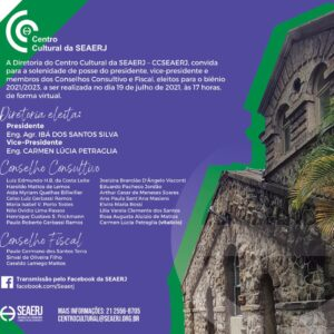 Convite Solenidade de Posse (Biênio 2021-2023) Centro Cultural SEAERJ